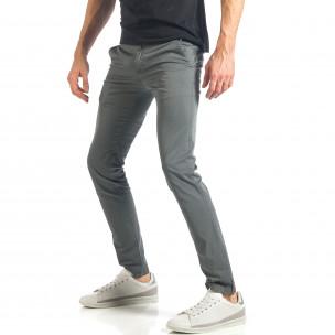 Мъжки сив панталон изчистен модел. Размер 36