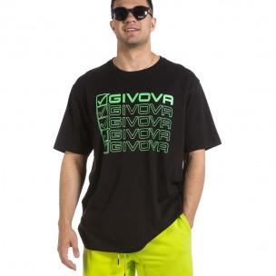 Мъжка черна тениска Givova Big Size