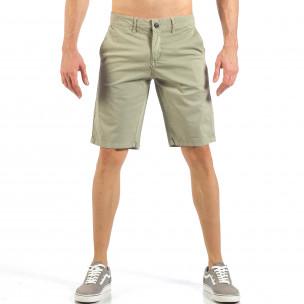 Мъжки бежови къси панталони с италиански джобове