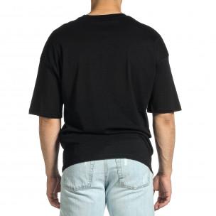 Мъжка черна тениска Dinosaur Oversize  2