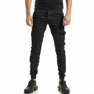 Черен мъжки панталон Cargo Jogger