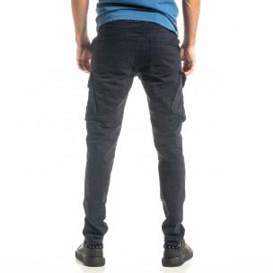 Мъжки син Cargo панталон с прави крачоли 2
