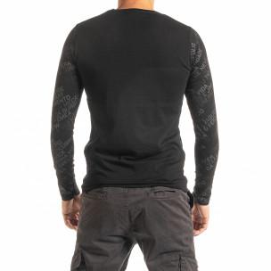 Мъжка блуза сив принт  2
