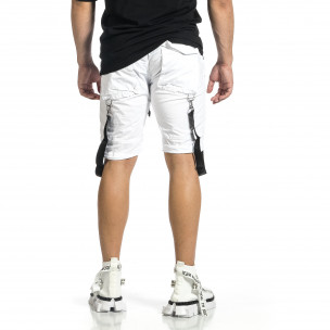 Мъжки бели къси панталони Cargo Hip Hop  2