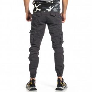 Мъжки сив карго панталон Jogger & Big Size  2