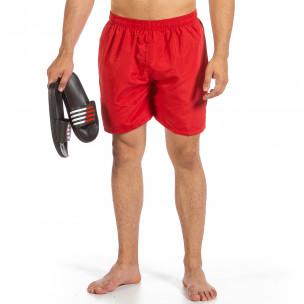 Мъжки червен бански Basic Big Size