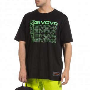 Мъжка черна тениска Givova Big Size 2