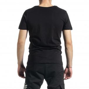 Мъжка черна тениска My Story  2