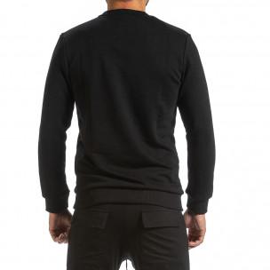 Мъжка ватирана черна блуза  2