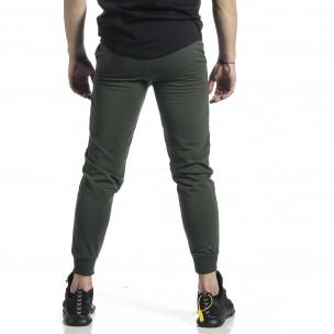 Basic памучно мъжко долнище милитъри зелено  2
