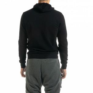 Basic мъжки черен суичър тип анорак 2