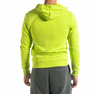 Basic мъжки суичър неоново зелено 2