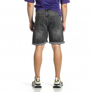 Loose fit мъжки сиви къси дънки  2