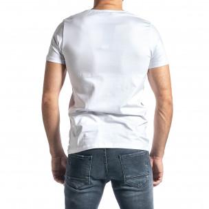 Мъжка бяла тениска Barcode 2