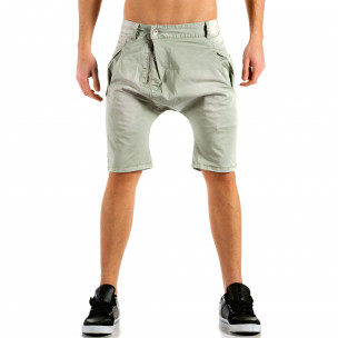 Мъжки сиви къси панталони тип потури X-three
