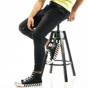 Мъжки черни дънки Cropped Carrot KA7 2