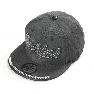 Сива шапка New York