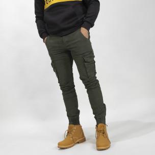 Мъжки Cargo Jogger панталон в цвят Olive
