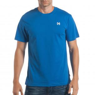 Мъжка синя тениска CROPP изчистен модел