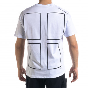 Мъжка тениска с графичен принт Oversize  2