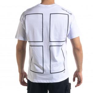 Мъжка тениска с графичен принт 2