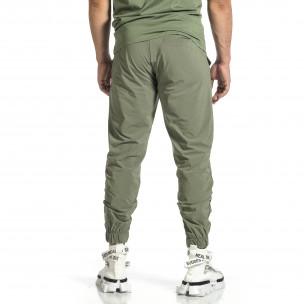 Мъжки шушляков панталон Jogger в зелено  2