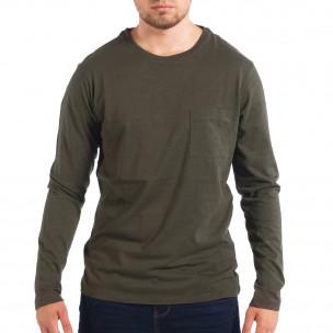 Мъжка зелена блуза RESERVED с джоб
