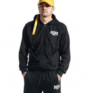 Мъжки черен спортен комплект Big Size