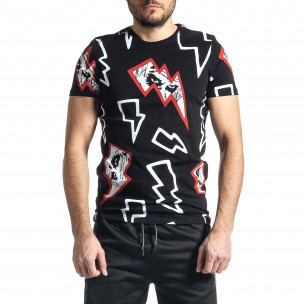 Мъжка черна тениска Thunder