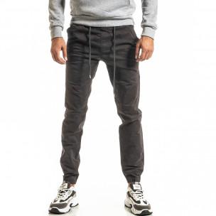 Мъжки сив панталон Jogger