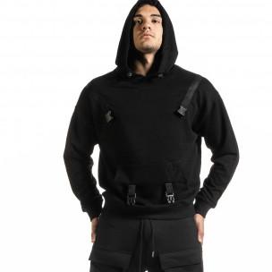Мъжки черен суичър Hip Hop стил