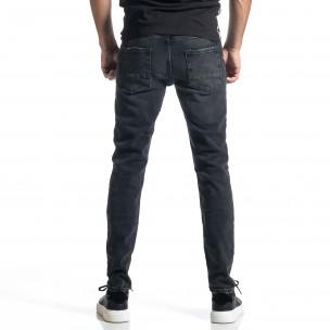 Long Slim дънки плътен деним в черно  2