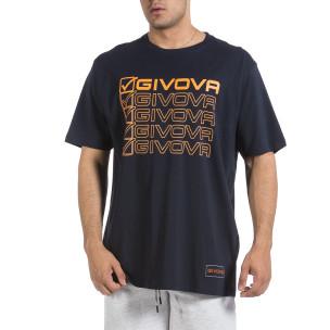 Мъжка тъмносиня тениска Givova Big Size