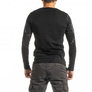 Мъжка черна блуза PUNK  2