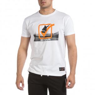 Мъжка бяла тениска Givova