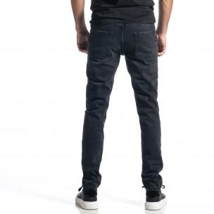 Long Slim мъжки черни дънки  2