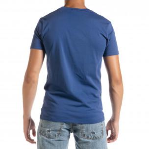 Фина мъжка тениска в синьо Amserdam 2