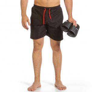 Мъжки бански черен с контраст