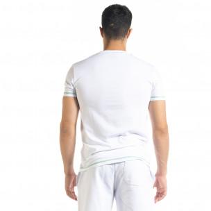 Бяла мъжки тениска Compass  2
