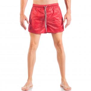 Мъжки червен бански изчистен модел