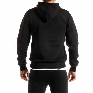 Мъжки черен суичър тип анорак Brooklyn 2