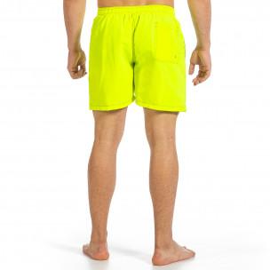 Мъжки бански зелен неон с контраст 2