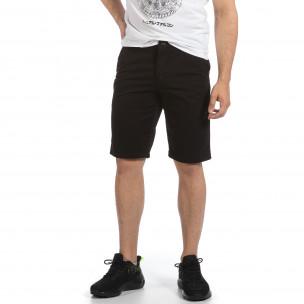 Мъжки черни къси панталони & Big Size