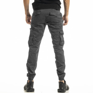 Сив мъжки панталон Cargo Jogger  2