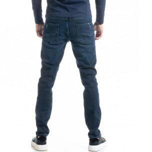 Long Slim мъжки дънки от плътен деним 2