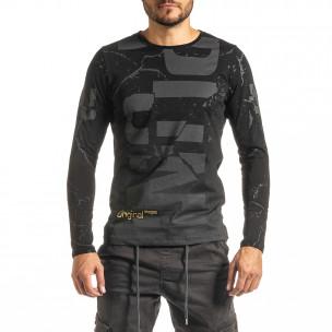 Мъжка черна блуза PUNK