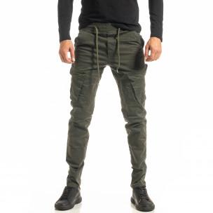 Мъжки зелен Cargo панталон с прави крачоли
