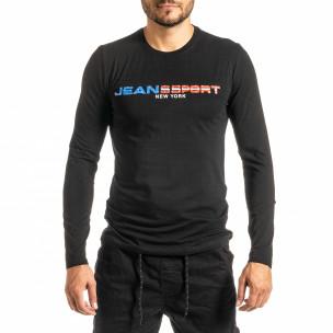 Мъжка черна блуза Jeans Sport