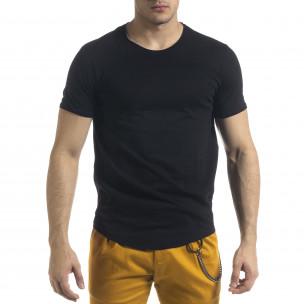 Basic O-Neck черна тениска
