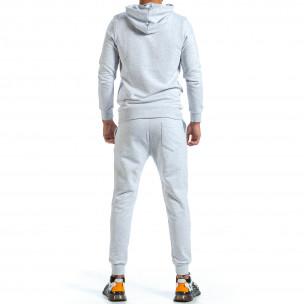 Basic мъжки сив спортен комплект от памук Clang 2